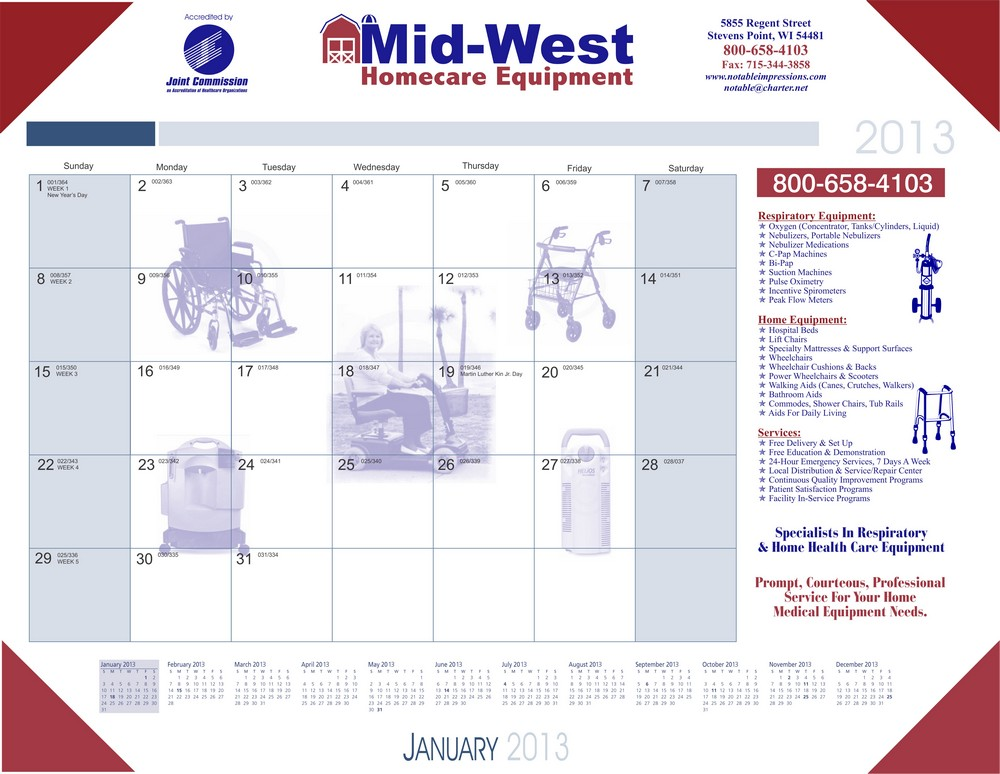Exclusive Healthcare Desk Calendar