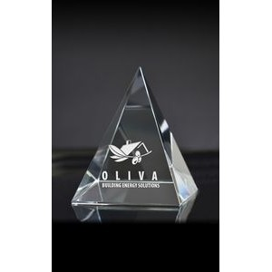 Large Pyramid Paperweight Award